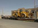 لودر 600 به وزن 48 تن محموله ترافیکی حمل توسط کمرشکن 11 محور شرکت حمل ونقل خلیج فارس ترابر