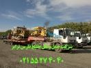 حمل بلدوزر 155 کوماتسو و بلدوزر کاترپیلار D8 ( CATERPILLAR D8 )توسط تریلی کمرشکن محوله ترافیکی
