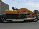 بیل مکانیکی 210 هیوندای حمل توسط کمرشکن 2 محور پل دار