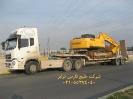 حمل بیل مکانیکی 210 هیوندای( Hyundai ) توسط کمرشکن 5 محور پل دار