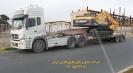 حمل بیل مکانیکی 220 هیوندای (Hyundai) توسط کمرشکن 5 محور شرکت حمل و نقل خلیج فارس ترابر