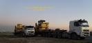 حمل سایدبوم کوماتسو 355 (Komatsu) جهت خط لوله گاز ایران - پاکستان از مبدا تهران به مقصد چابهار توسط کمرشکن 11 محور شرکت حمل و نقل خلیج فارس ترابر
