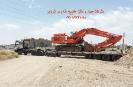 حمل بیل مکانیکی 470 هیتاچی(HITACHI 470) از مبدا تهران به مقصد سنگان توسط کمرشکن 9 محور شرکت حمل و نقل خلیج فارس ترابر