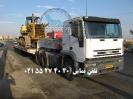 حمل بلدوزر توسط کمرشکن 7 محور شرکت حمل و نقل خلیج فارس ترابر