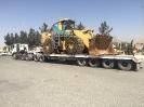 حمل لودر توسط کمرشکن 9 محور ویژه خلیج فارس ترابر