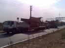 دامپ تراک  حمل توسط کمرشکن 7 محور محموله ترافیکی