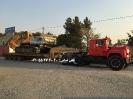 حمل بیل مکانیکی توسط کمرشکن 7 محور خلیج فارس ترابر