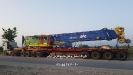حمل دکل و کابین جرثقیل توسط کمرشکن 11 محور کف صاف ویژه شرکت حمل  و نقل خلیج فارس ترابر