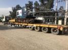حمل جرثقیل بوم خشک از تهران به بوشهر توسط کمرشکن 7 محور