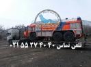 حمل دستگاه آتشنشانی توسط  کمرشکن ویژه پل دار خلیج فارس ترابر به مقصد عسلویه