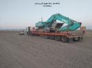 حمل بیل مکانیکی کوبل کو(kobelco) از مبدا تهران به مقصد عسلویه توسط کمرشکن 7 محور شرکت حمل و نقل خلیج فارس ترابر