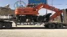 حمل بیل مکانیکی  DOOSAN DX190 توسط کمرشکن 2 محورپل دار