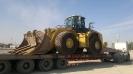 لودر کاترپیلار   CATERPILLAR 980 H حمل توسط کمرشکن 7 محور شرکت حمل ونقل خلیج فارس ترابر