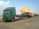 بیل مکانیکی LIEBHERR 984  حمل از بندرعباس  به تهران توسط کمرشکن11محور به وزن 118 تن