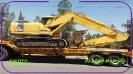 بیل مکانیکی کوماتسو(PC220) حمل با کمرشکن 5 محور   باربری خلیج فارس ترابر_1