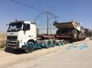 حمل دامپتراک terex 06 توسط کمرشکن 11 محور ویژه خلیج فارس ترابر