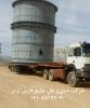 حمل لوازم نیروگاهی به طول 9 متر در نیروگاه سیرجان توسط کمرشکن 7 محور شرکت حمل و نقل خلیج فارس ترابر