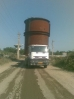 لوازم نیروگاهی (استک ) به ارتفاع 9.5 متر محموله تراقیکی حمل توسط کمرشکن شرکت حمل ونقل خلیج فارس ترابر