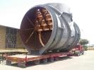 حمل قطعات نیروگاهی ابعاد ترافیکی  مجوزی عرض 7.20 ارتفاع با کمرشکن ویژه8.50