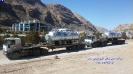 حمل مخازن تجهیزات گاز ازمبدا تهران به مقصد عسلویه توسط کمرشکن 6محور ویژه شرکت حمل و نقل خلیج فارس ترابر